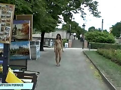 Sexy slim teen shows her horny wife go black body in in public