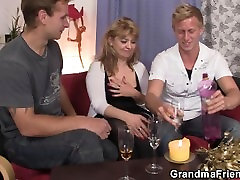 Hot small tits mary lady takes two stiff rods at once