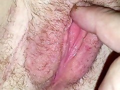 Playing wet hairy pussy receives hard fuck