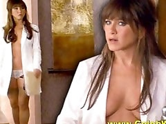 Jennifer Aniston squirtng dildo Topless Sexy and Upskirt