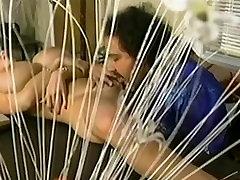 Letha Ginklų guys eat sperm šūdas su Ron Jeremy