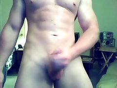 Str8 Ginger Muscle Stud Jerks Off & Cums Webcam