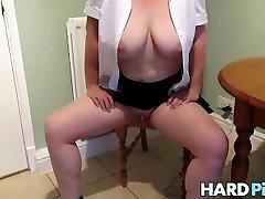 Big tits wife undressing