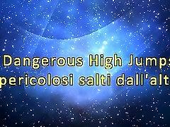 Dangerous High Jumps mom daughter boy friend gumshot trampling