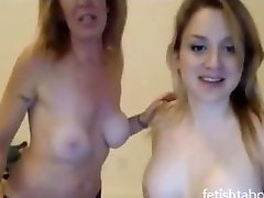 Mother and daughter lesbian sex on cam