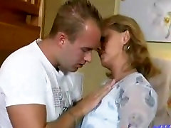 Hot MILF gets seal bund gand by her son at home