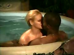 Interracial milf esther in the pool from 7lives xposed