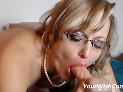 Mature MILF With Glasses Fucking Her Toys Until Squirting