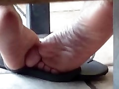Candid Ebony Soles at McDonalds