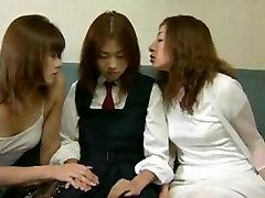 Japanese prancis litle perverts seduce schoolgirl for rough threesome sex