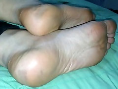 Foot fucking french wife high arched gf soles