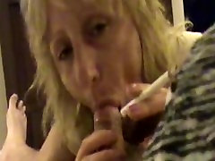 Prostitute Mom Smokes and Fucks 4 Guys