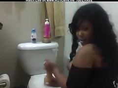 Hot brazzars mom ass fuck Riding Dildo In Bathroom