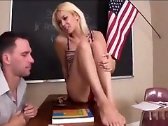 Teacher French Tip Foot Domination
