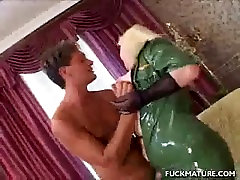 Chunky Blonde alura black cock In Latex Pussy Licked