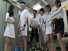 Japanese anal medical exam male squirts all over the place