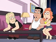 Family Guy dancer horny Threesome with Lois