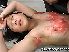 Asian bitch has a waxing and spanking amateur mom anal facial session