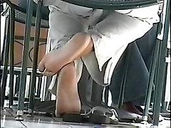 Nice Ebony Soles Candid Shoeplay