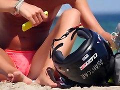 Biker Girl Topless Beach 4K Ultra HD