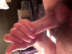 Cumming after stroking my dick