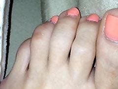girlfriend relax feet
