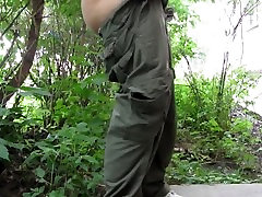Russian Girl Peeing In A Public Place