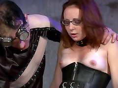 Redhead slut gets sissys porn and punish.