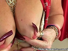 British call girls blackmail Zadi fucks herself with a dildo