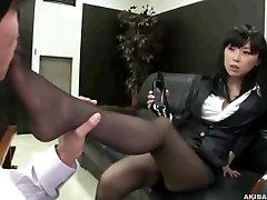 sexy office ladys 8547 karlie montana pleasing you feet