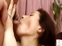 Japanese MILF fucked hard until she screams with orgasms