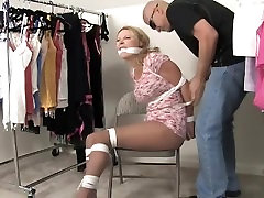 Savanna Bound and Gagged In the Backroom