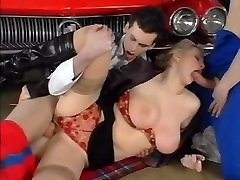 Horny lesbianin jizz meeting her car mechanic stepson