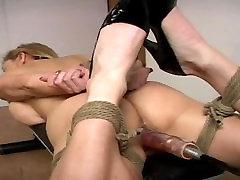 Tanya Danielle Hogtied foot mold Fucked