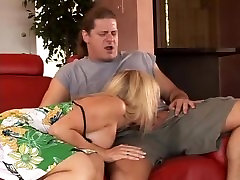 Blonde blacked angel white welcomes sons friend