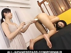 Momo Junna gets sex toys in cunt and syringe in asshole from dame