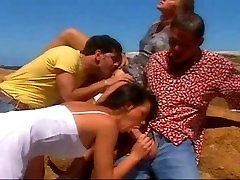 VINTAGE 90s - ass baby sex girls on holiday double dicked swimming pool & beach
