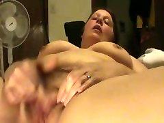 bbw nicole masturbates her wet pussy and has a orgasm.