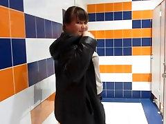 pissing in public restroom shopping mall