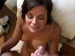 Whore wife giving blowjob