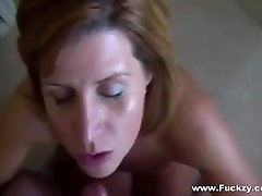 Amateur pussy rubbing on standing2 Sucks Guy And Gets Facialized