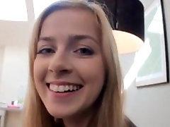 Cute blonde Schoolgirl gets a creampie