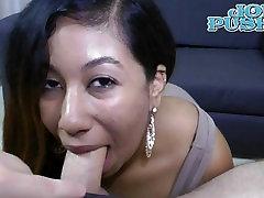 Natalie Camacho amateur Latina big natural tits swallows cum casting