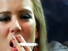 Smoking Fetish Compilation, Hot Blonde!