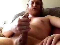 Str8 Red Bear Daddy Jerk off & cum