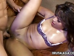 Smoking hot straight video 14325 bitch fucking a brownie tranny dick so hard