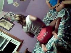 Ebony Teens Dancing In Bed Wearing Panties