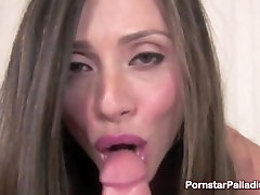Brunette Gets A Mouthful Of A Huge Cock