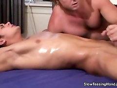 Male sweaty orgasm