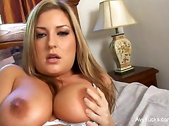 Busty iblk gf Avy Scott invites him in to fuck her